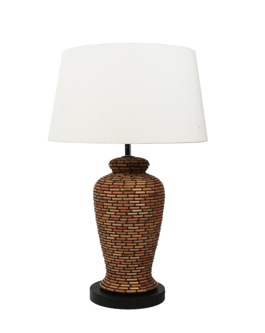 实木树枝拼贴 花瓶造型台灯 圆形装饰灯 45*45*77cm